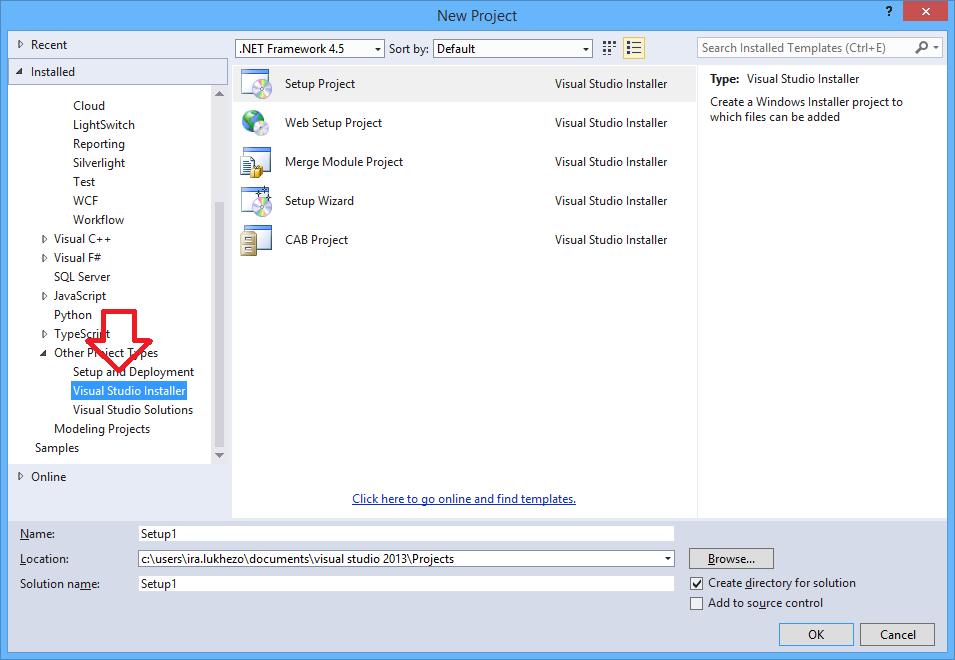 Microsoft Visual Studio Installer Projects | Ira Lukhezo's blog